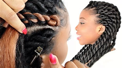 how to rope cornrow braids for beginners step by step