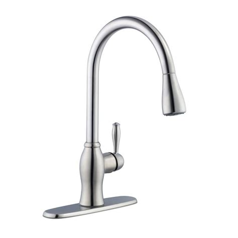 pull kitchen faucets stainless steel pegasus 1050 series single handle pull sprayer