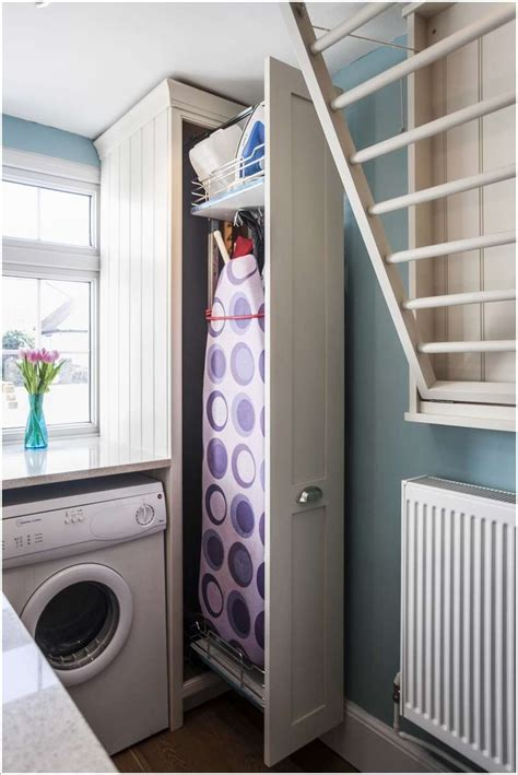 Utility Closet Storage Ideas by 10 Clever Space Saving Ideas For A Small Laundry Room
