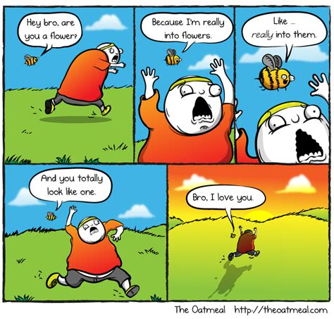 the oatmeal hey bro are you a flower the oatmeal