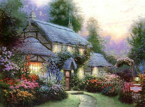 kinkade cottage pin kinkade cottages tree 1440x900 178652