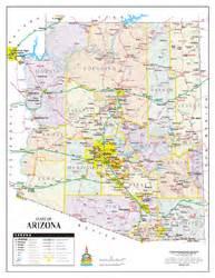 wide world of maps arizona arizona wall map by wide world of maps