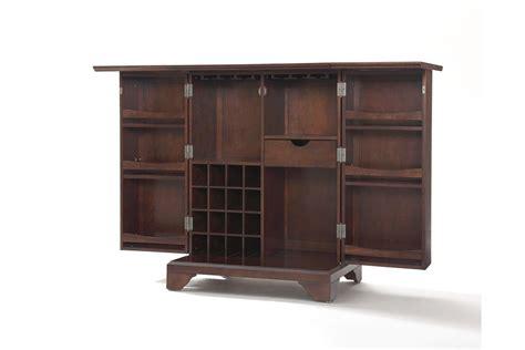 Expanding Cabinet by Lafayette Expandable Bar Cabinet In Vintage Mahogany