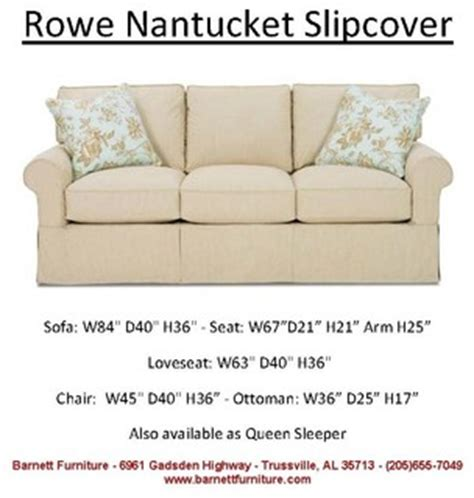 rowe nantucket sofa slipcover rowe nantucket slipcover sofa loveseat sectional chair