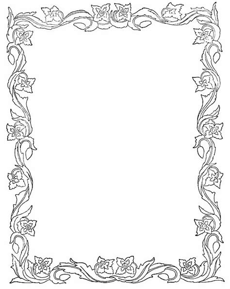 Border Paper Template photoshop borders templates printable leaves