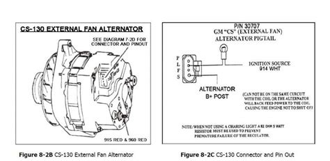 gm 12v cs130 alternator wiring diagram gm alternator