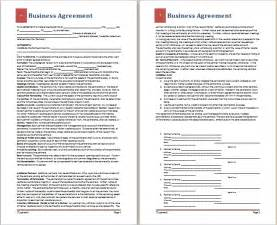 business agreement template doc 838541 business agreement templates business business agreement template non compete agreement