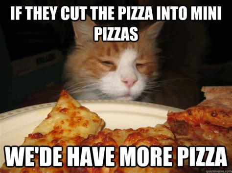 Memes About Pizza - if they cut the pizza into mini pizzas we de have more
