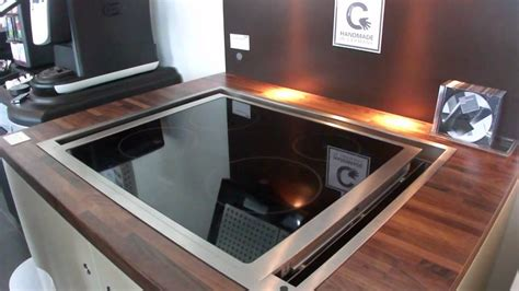 Small Kitchen Design Pics by Blanco Gutmann 174 Mesa Downdraft Extractor Youtube