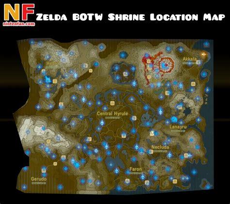 legend of zelda map location the legend of zelda breath of the wild shrine locations