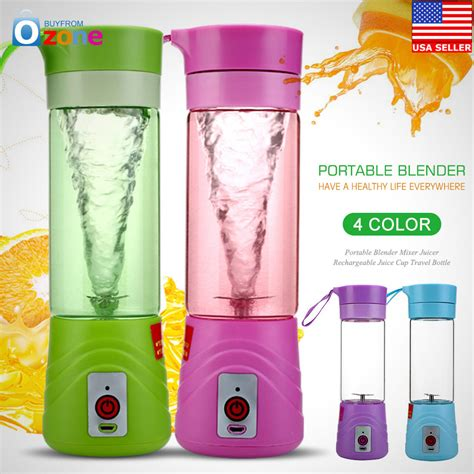 Blender Jus Portable 380ml new rechargeable juicer cup portable juice blender mixer 380ml 4 colors 2017 ebay