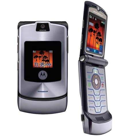 Motorola Razr V3i Brand New Refurbished motorola razr v3i unlocked used phone silver quartz