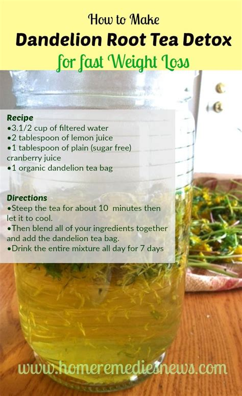 7 Day Green Tea Detox by 25 Best Dandelion Tea Detox Ideas On