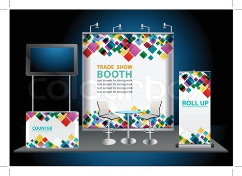 design banner photo booth vector blank roll up banner display with trade show booth