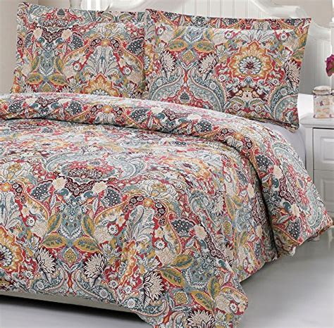 Pattern Bedding Sets 100 Cotton Paisley Pattern Duvet Cover Set Quot Duvet Cover And 2 Pillowcases Included