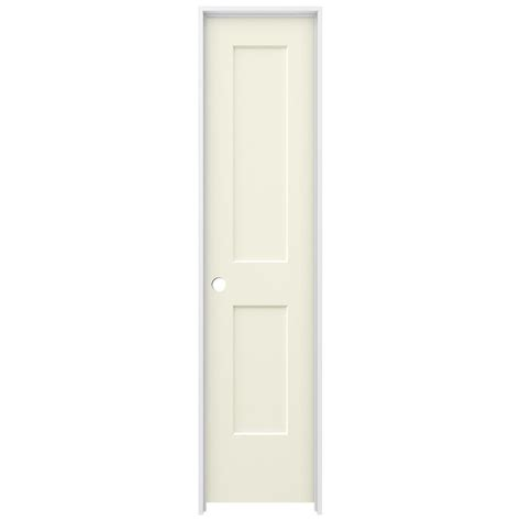 20 Interior Door Jeld Wen 20 In X 80 In Vanilla Painted Right Smooth Solid Molded Composite