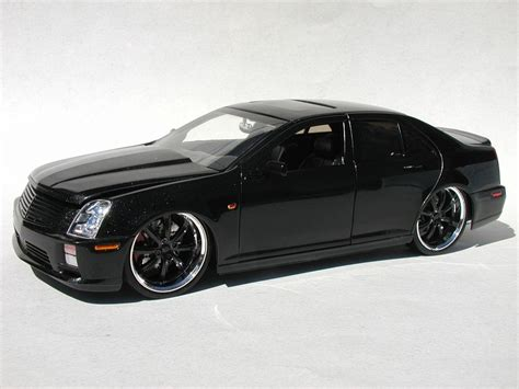 Handmade By Sts Personalized - quot black quot cadillac sts v glass model cars
