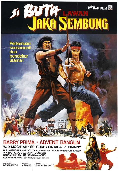 jual poster film indonesia jadul poster for the warrior and the blind swordsman jaka