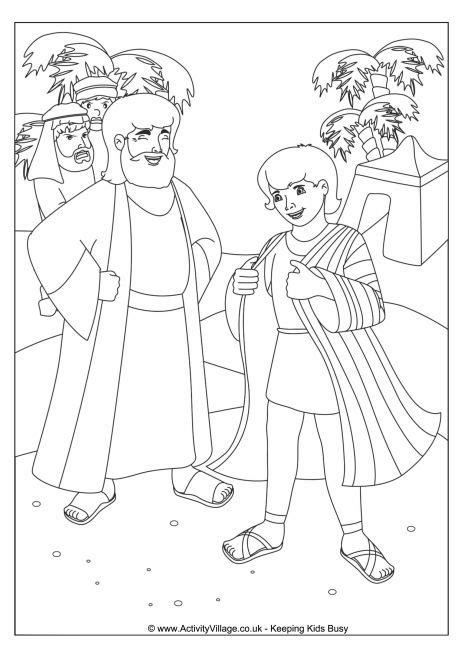 joseph dreamcoat coloring pages joseph s coat colouring page
