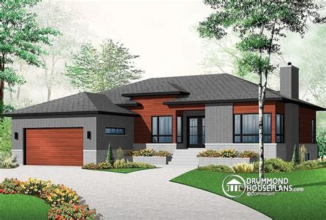 contemporary ranch home plans w3280 affordable ranch bungalow with home office open