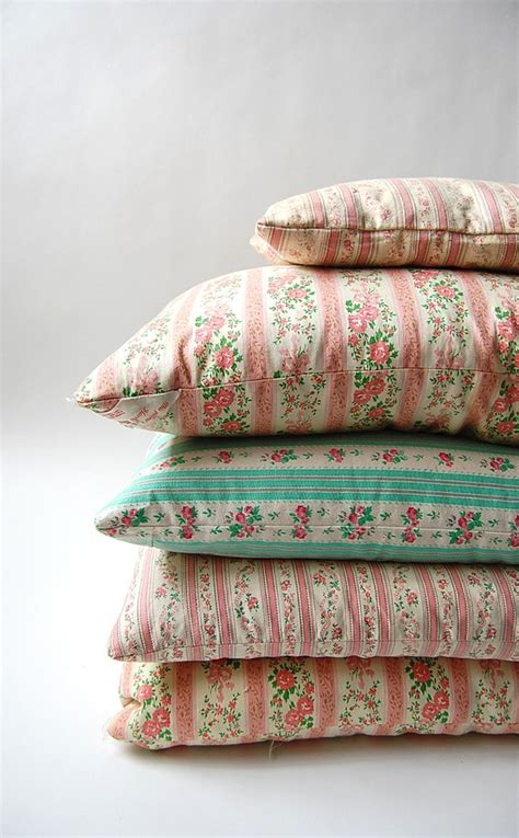 pillow ticking bedding set of 5 vintage ticking feather and down pillows farm