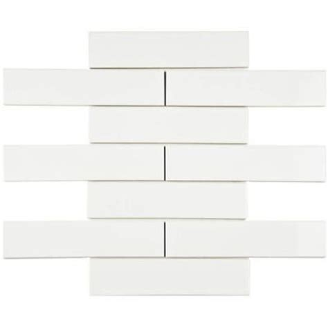 Home Depot Subway Tile by Merola Tile Metro Soho Subway Glossy White 1 3 4 In X 7 3