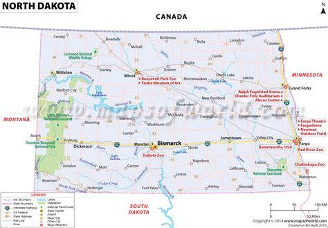 road map nd dakota map map of dakota nd map