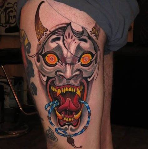 small hannya mask tattoo 17 best images about body art on pinterest tattooed