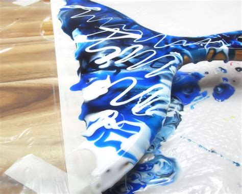 fluid resin art cheese board epoxy resin coatings