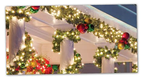 commercial lighted christmas garland commercial christmas decorations christmas designers