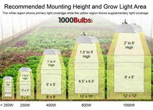 1000 Watt Grow Lights Grow Light Basics Part 1 Bulbs And Coverage 1000bulbs