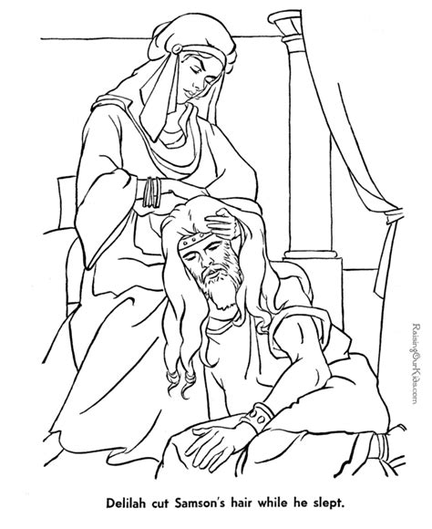 bible coloring pages free free coloring pages of samson bible
