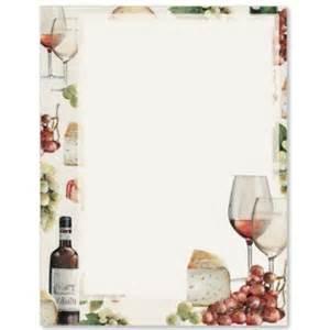 Wine list border papers paperdirect