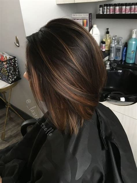 trendy to elegant black hair with caramel highlights trendy hair highlights caramel highlights dark brown