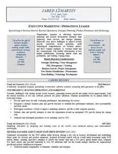Revenue Sle Resume by Marketing Operations Resume Exle Resume Exles Resume And Marketing