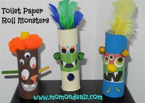 toilet paper you monster halloween crafts for kids toilet paper roll monsters