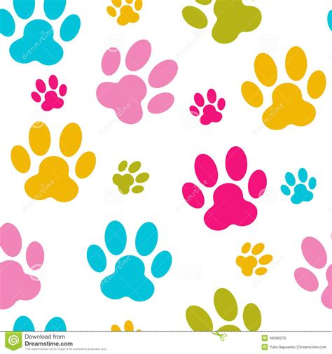 seamless animal pattern vector paw seamless pattern background vector animal illustration