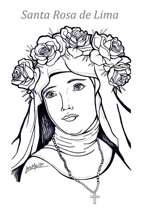 imagenes para colorear a santa rosa de lima el rinc 243 n de las melli dibujo santa rosa de lima