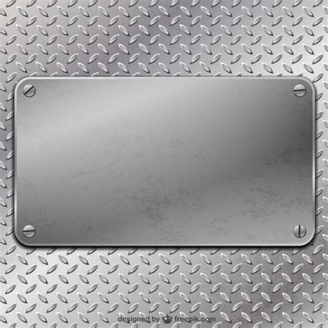 Metal Plate metal plate background vector free