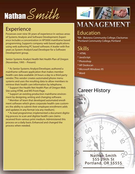 Management Resume Templates Free by Management Resume Templates Image Collections