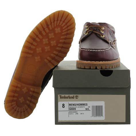 timberland boat shoes red sole timberland 50009 heritage 3 eye brown leather deck boat