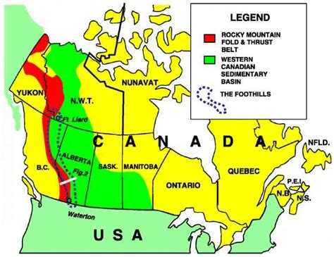 canadian mountains map rocky mountains canada map