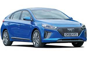 compare new car prices uk hyundai ioniq hybrid mpg co2 insurance groups carbuyer