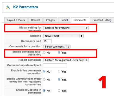 protect k2 comments from spam hotthemes
