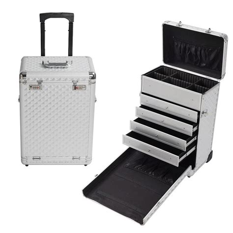 pro makeup case with drawers pro 14 quot rolling travel makeup case jewelry drawers