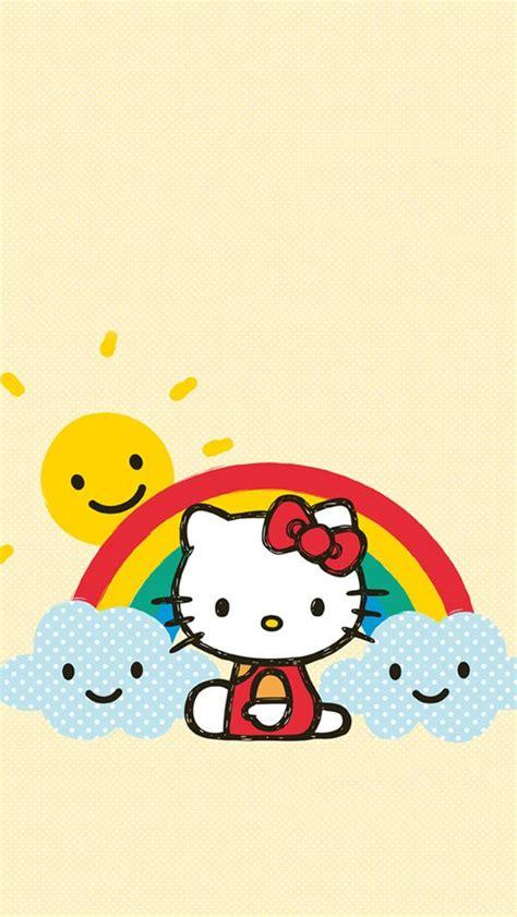 wallpaper hello kitty rainbow iphone wallpapers so cute and kawaii on pinterest