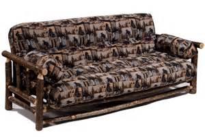 rustic hickory log futon cabin futon furniture