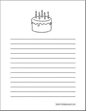 birthday writing paper writing paper birthday primary wide lined paper with