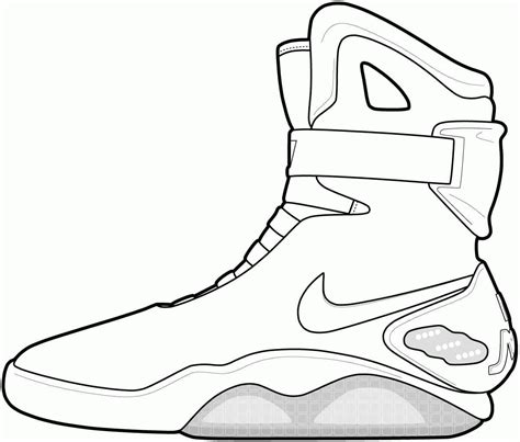 sneaker template shoe coloring pages coloring home