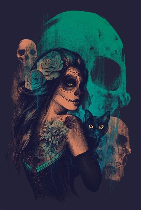 imagenes de calaveras besandose fondo negro tumblr
